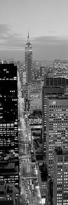 High Angle View Of A City, Fifth Avenue, Midtown Manhattan, New York City, New York State, Usa Poster