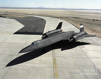 High Angle View Of A Sr-71a Blackbird Poster by Stocktrek Images