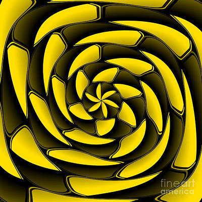 High Contrast Black And Yellow Poster