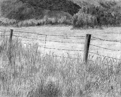 High Desert Hay Field Poster by David King