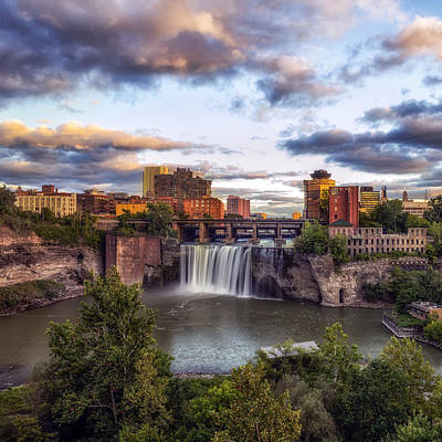 Poster featuring the photograph High Falls Crop by Mark Papke