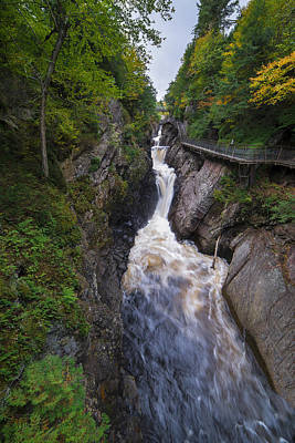 Poster featuring the photograph High Falls Gorge Adirondacks by Mark Papke