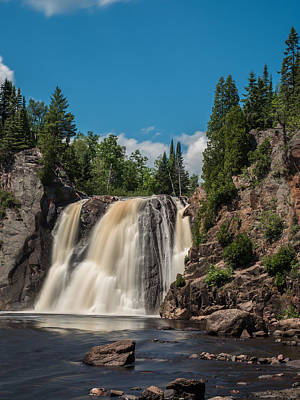 High Falls Of Tettegouche State Park 4 Poster by AMB Fine Art Photography