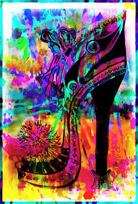 High Heel Heaven Abstract Poster