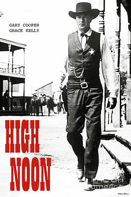 High Noon, Gary Cooper Poster by Thomas Pollart