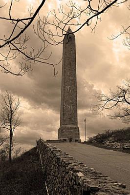 High Point Obelisk In Sepia  Poster