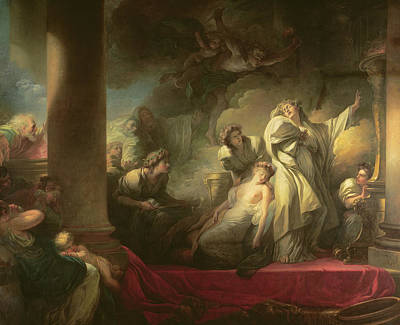 High Priest Coresus Sacrificing Himself To Save Callirhoe Poster by Jean-Honore Fragonard