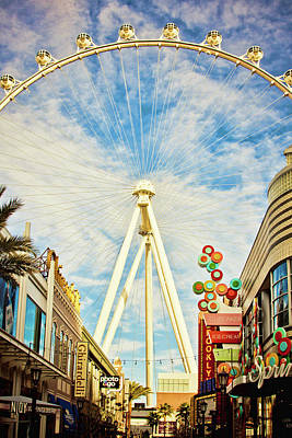 High Roller Wheel, Las Vegas Poster