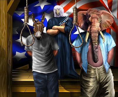 High Treason - State Of The Union-a House Divided1 Poster by Reggie Duffie