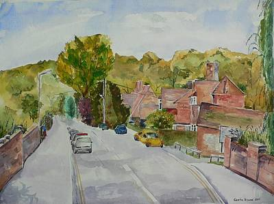 Poster featuring the painting High Wycombe by Geeta Biswas