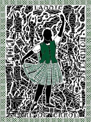 Poster featuring the digital art Highland Dancing by Darren Cannell