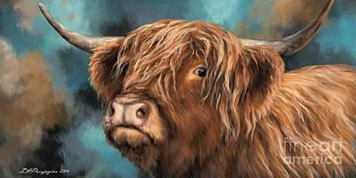 Highland Heifer Poster by Dina Perejogina