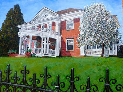 Poster featuring the painting Highland Homestead by Tom Roderick