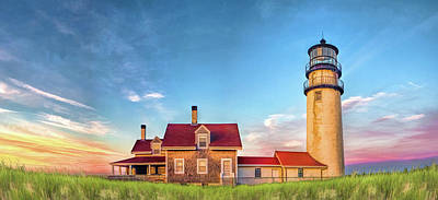 Poster featuring the painting Highland Lighthouse by Christopher Arndt