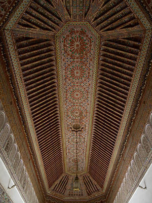 Highly Decorated Roof Of Palais Bahia Poster