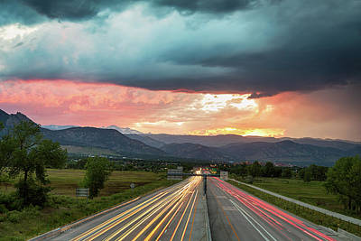 Highway 36 To Beautiful Boulder Colorado Poster