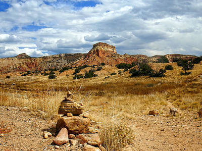 Poster featuring the photograph Hiking Ghost Ranch New Mexico by Kurt Van Wagner