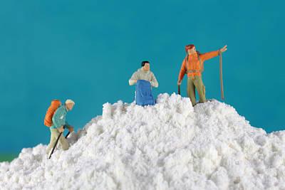 Hiking On Flour Snow Mountain Poster