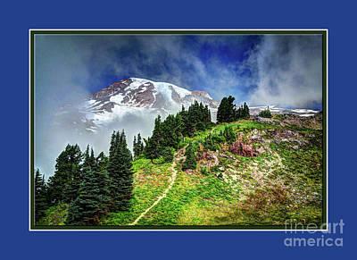 Hiking Rainier Poster