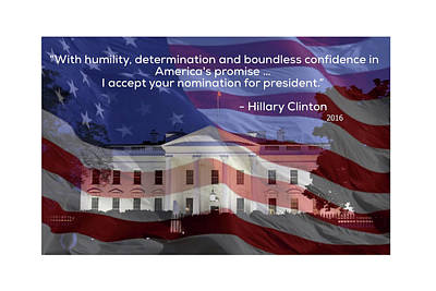 Hillary Clinton's Acceptance Speech Poster by J Pearson Photos