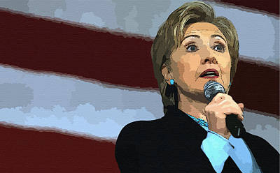 Hillary Diane Rodham Clinton Poster by Howard Roberts