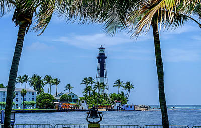 Poster featuring the photograph Hillsboro Inlet Lighthouse by Louis Ferreira