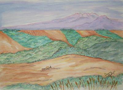Hillside Farming Poster by Denny Phillips