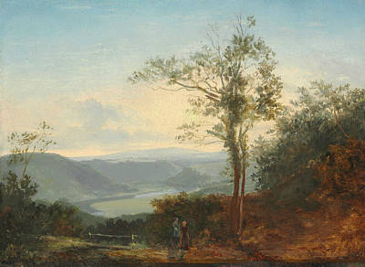 Hilly Landscape With A River In The Valley Poster