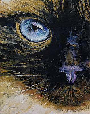 Burmese Cat Poster by Michael Creese