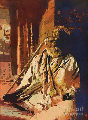 Hindu Holy Man- Nepal Poster by Ryan Fox