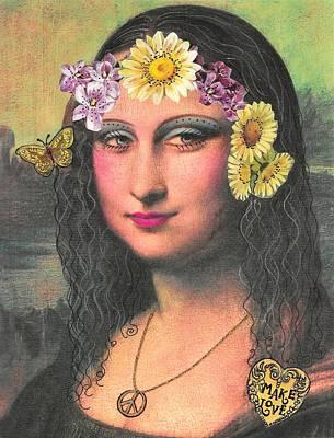 Hippie Gioconda Poster