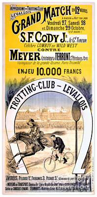 Hippodrome Du Trotting Club Levallois Poster