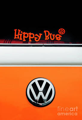 Hippy Bus Poster by Tim Gainey