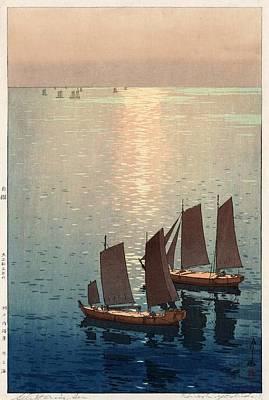 Hiroshi Yoshida, Hikaru Umi, The Sparkling Sea, 1926 Poster