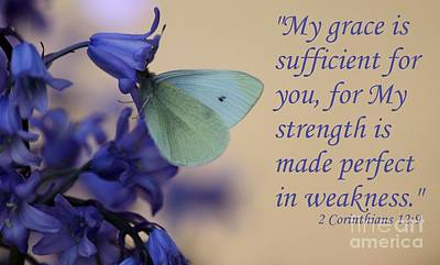 His Grace Is Sufficient Poster by Erica Hanel