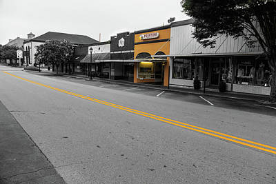 Poster featuring the photograph Historic Buford In Selective Color by Doug Camara