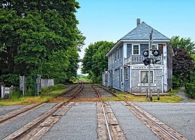 Historic Cape Cod Train Station Poster