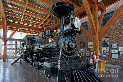 Historic Canadian Pacific Railway Steam Engine Poster
