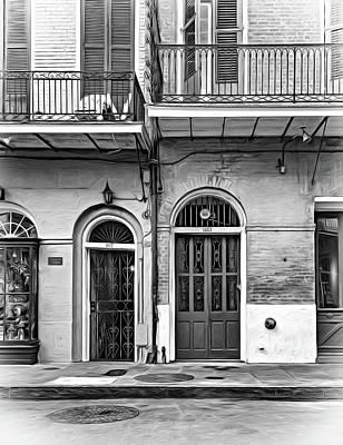 Historic Entrances - Paint Bw Poster by Steve Harrington