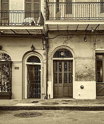 Historic Entrances - Sepia Poster by Steve Harrington
