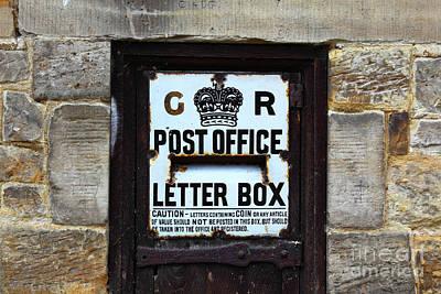 Historic Georgian Letter Box Detail Poster by James Brunker