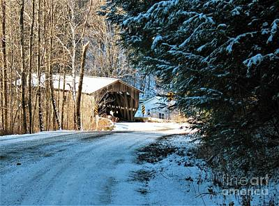 Historic Grist Mill Covered Bridge Poster