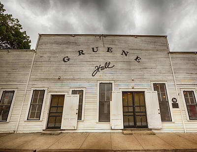 Historic Gruene Hall Poster by Stephen Stookey
