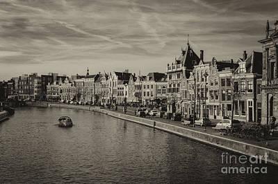 Historic Haarlem, Netherlands Bw Sephia Poster
