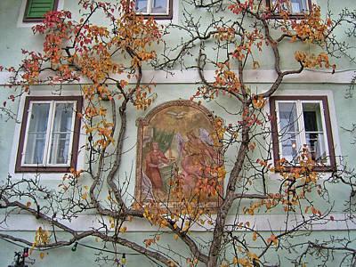 Historic House Facade In Bad Goisern Hallstatt Salzkammergut Aus Poster