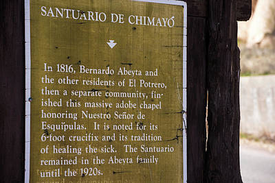 Historic Marker For The Santuario Poster