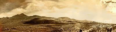 Historic Mountain Landscape In Sepia Tone Poster by Jorgo Photography - Wall Art Gallery