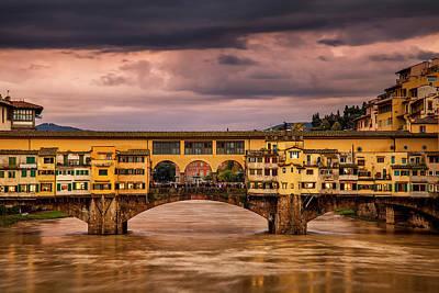 Historic Ponte Vecchio Poster by Andrew Soundarajan