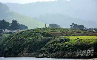 Poster featuring the photograph Historic Portola Cross In Carmel by Susan Wiedmann