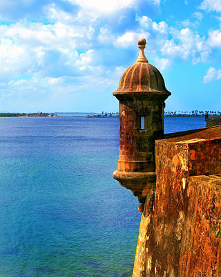 Historic San Juan Fort Poster by Perry Webster